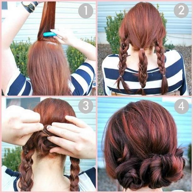 Лёгкие причёски на каждый день своими руками на короткие волосы фото