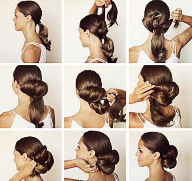 Причёски на каждый день из длинных волос своими руками