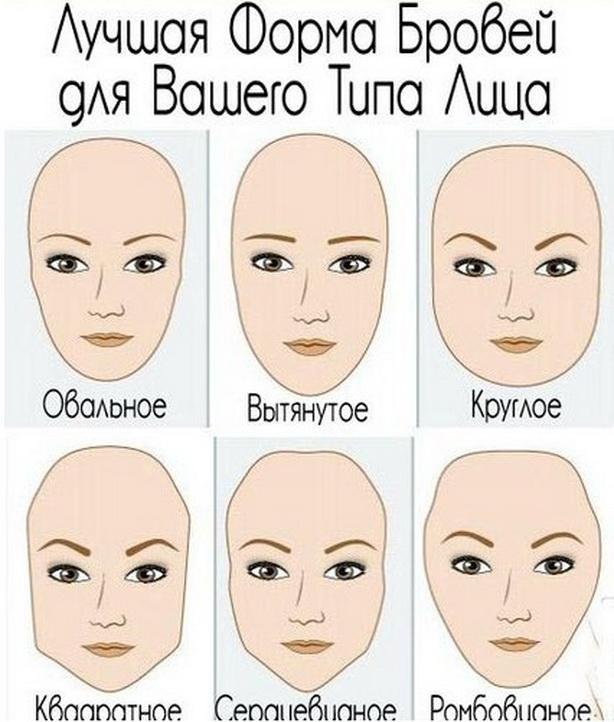 лучшие способы как отрастить брови - формы лица